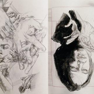 hand study, 2016